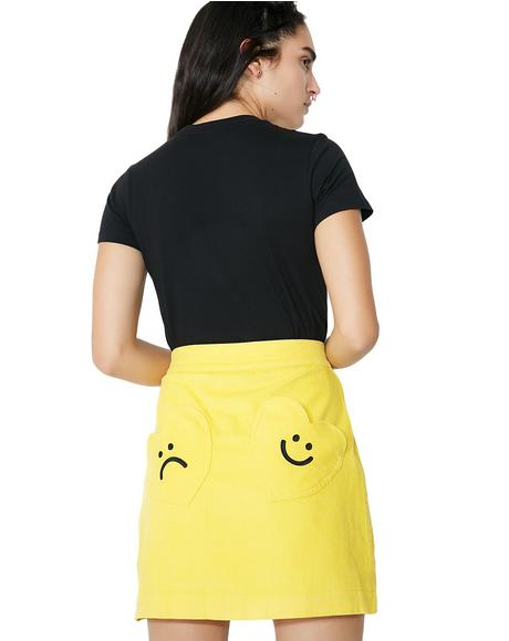 Moody Mustard Skirt