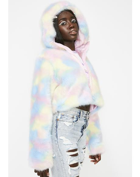 Lick The Lollipop Faux Fur Jacket