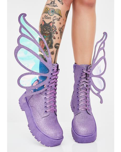 Fairy Flossin' Glitter Boots