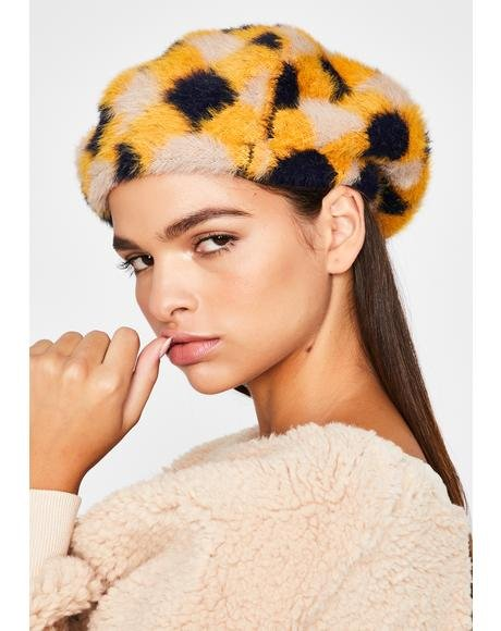 Zesty Ivy League Icon Plaid Beret