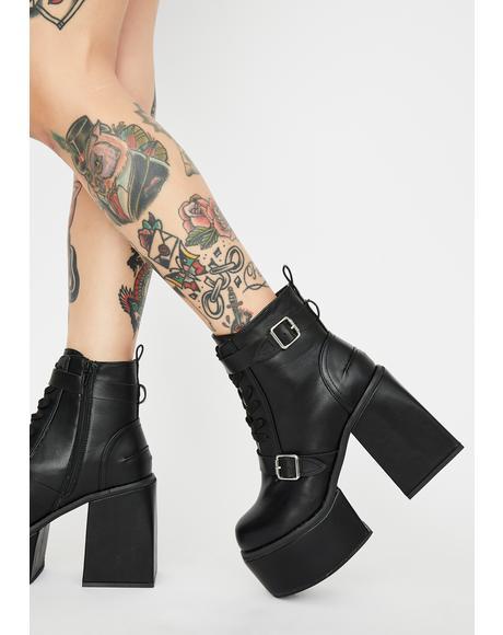 Dark Shut Ish Down Ankle Boots