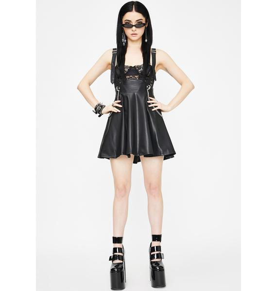 Punk Rave Pendulum Metal Chain Mini Skirt