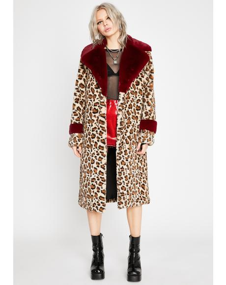 Plush Pounce Faux Fur Coat