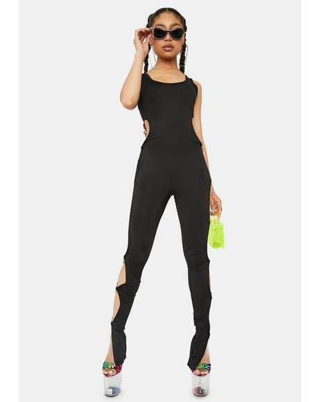Last Good Thing Cutout O-Ring Jumpsuit