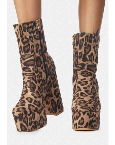 Meow Makeout Monday Leopard Platform Ankle Boots