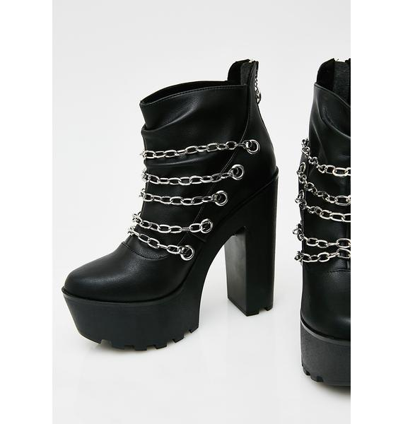 Disturbia Mary Chains Platform Boots
