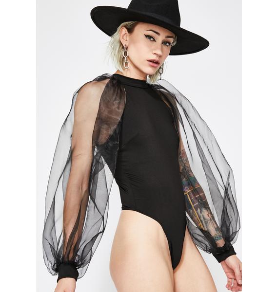 Wicked Daze Puff Sleeve Bodysuit