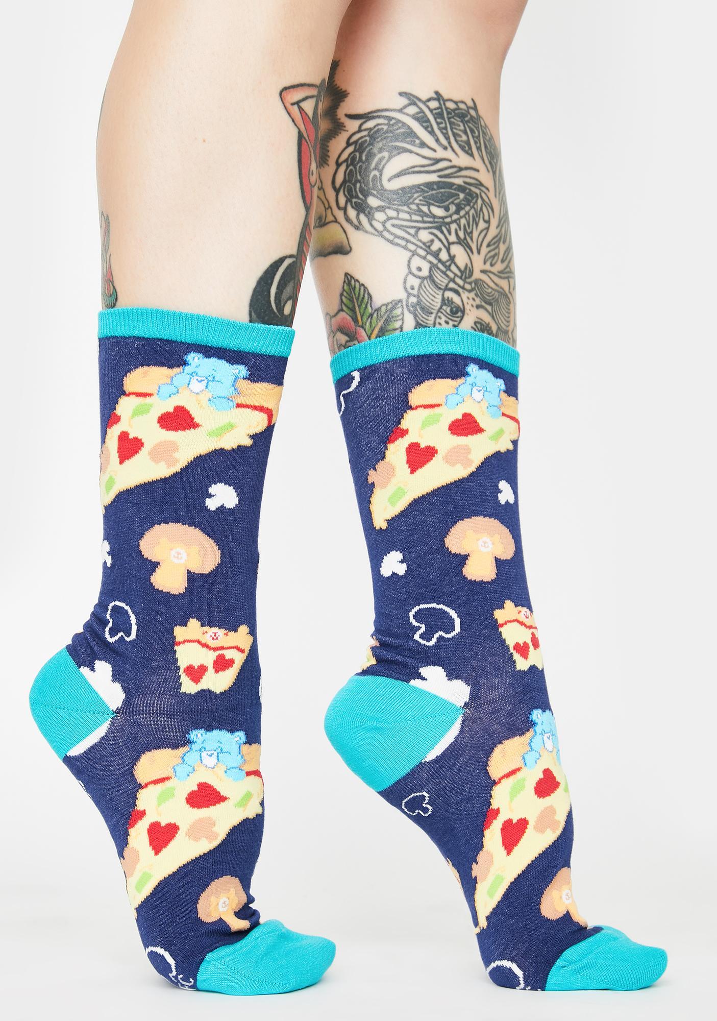 Socksmith Design Blue Pizza Dreams Crew Socks