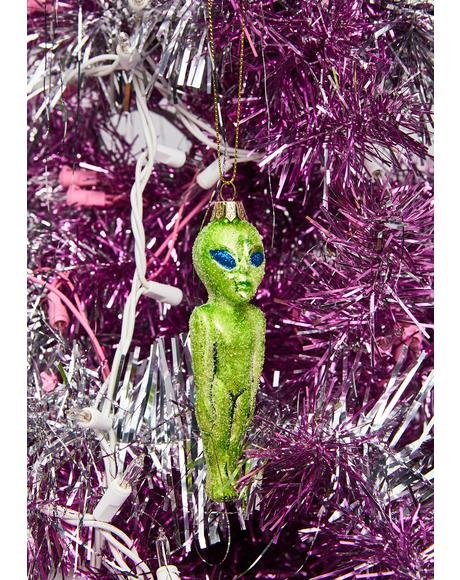 Martian Madness Glitter Ornament