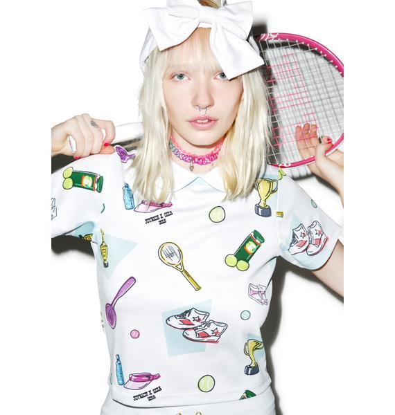Joyrich X GIZA Tennis Club Blouse