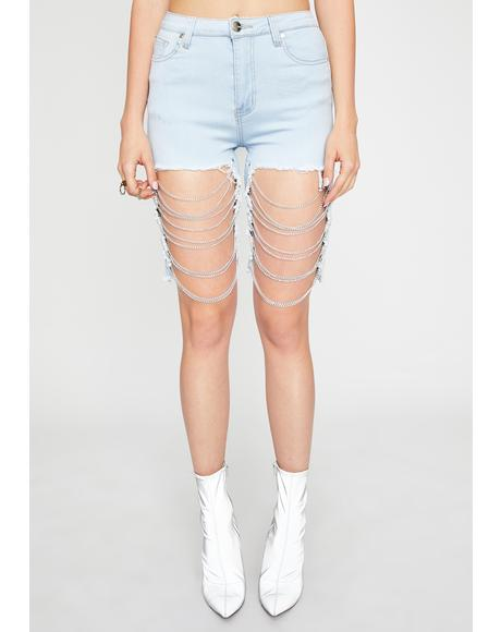 Hold That Thot Denim Shorts