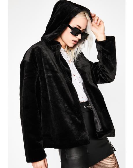 Tired Of It Faux Fur Coat