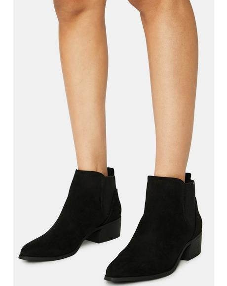 Suede Come This Way Ankle Boots