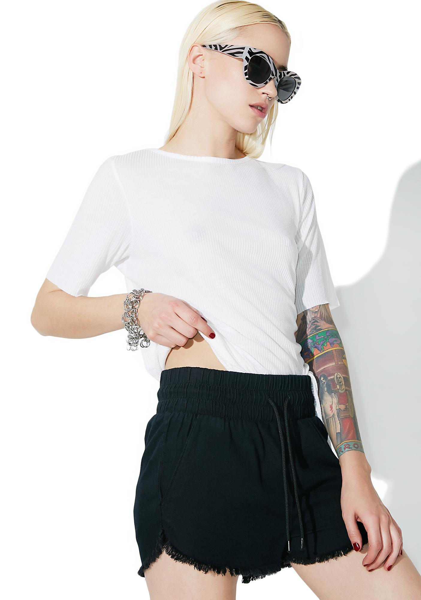 Cheap Monday Flow Jaded Black Shorts