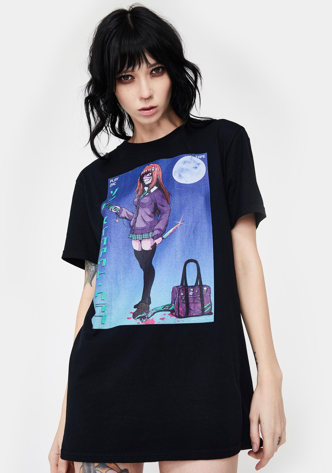 Zombie Makeout Club Dropped Call Graphic Tee