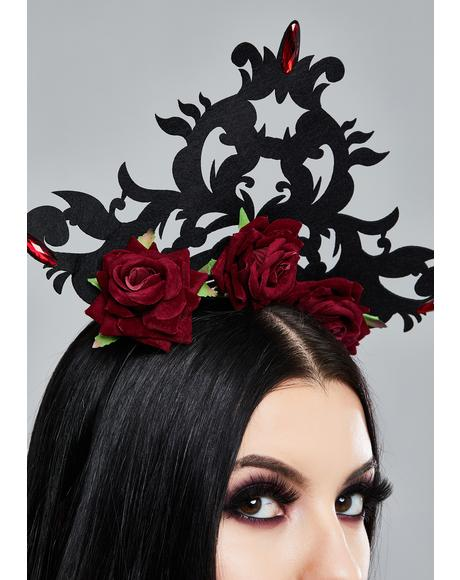 Red Rose Gothic Headpiece