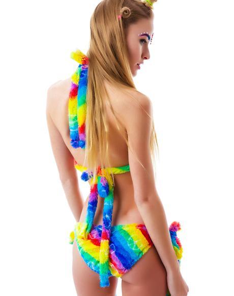 Rainbow Furry Cuddle Bikini