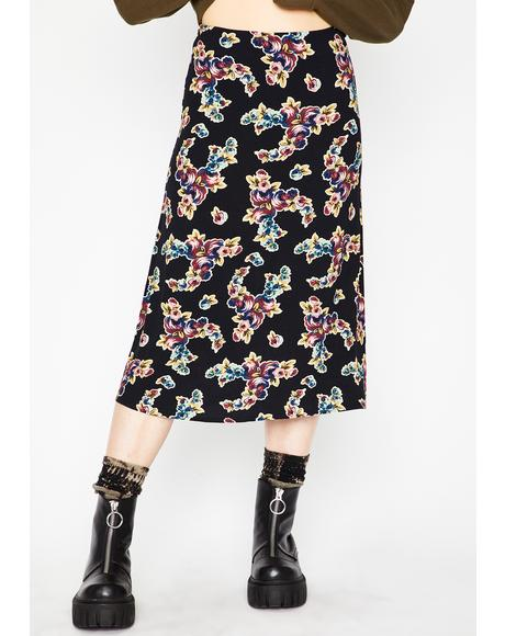 Fall To Pieces Midi Skirt