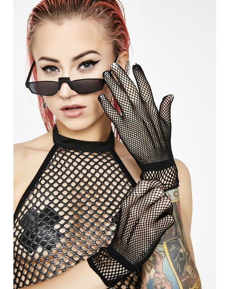 For Pleasure Fishnet Gloves
