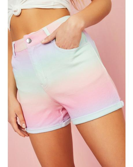 Sherbet Delight Denim Shorts