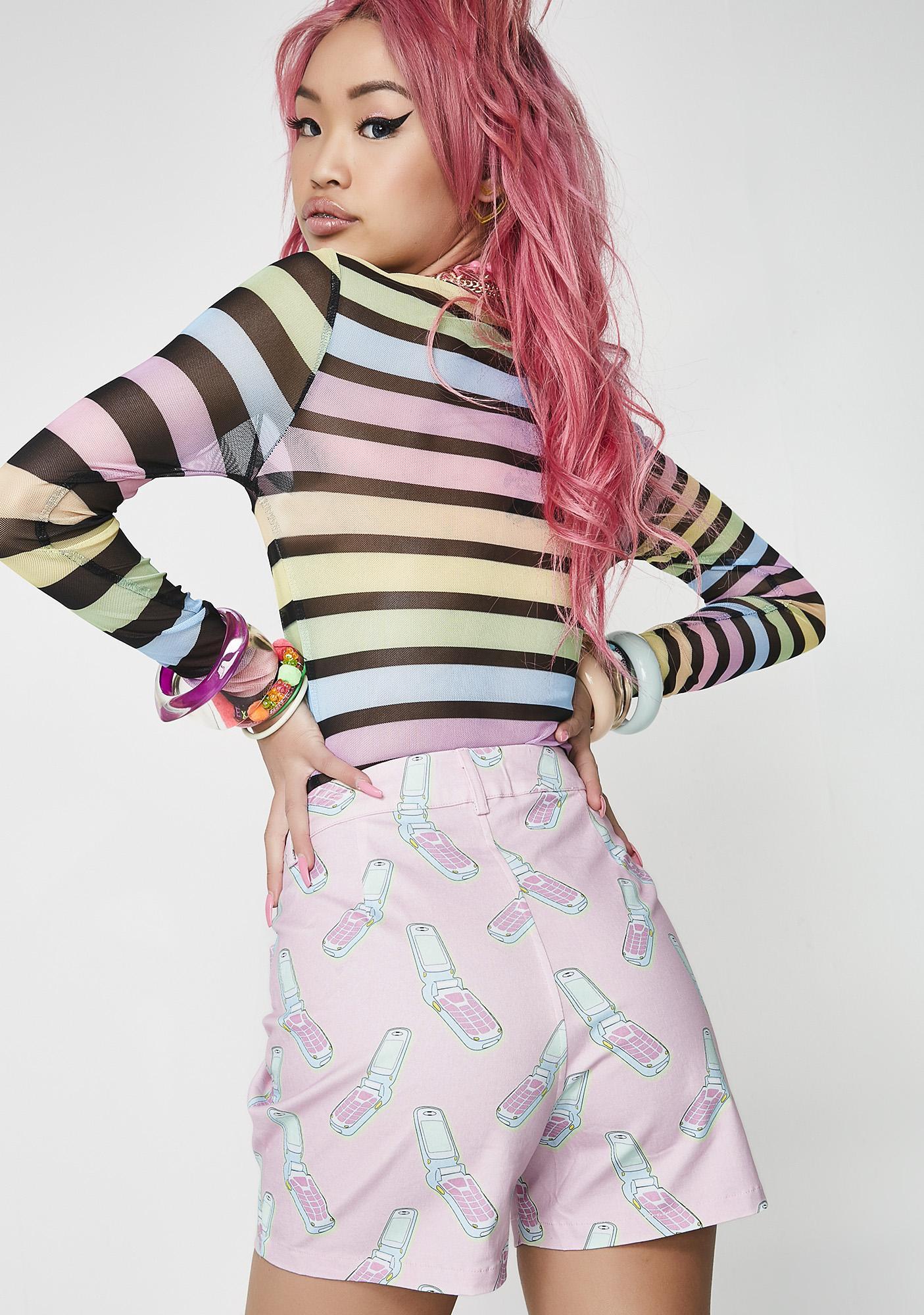 Hayley Elsaesser Flip Phone Denim Shorts