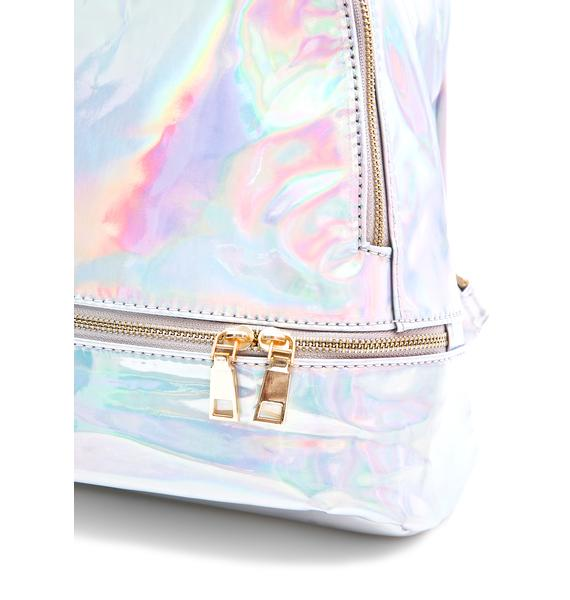 Gitsie Holographic Mini Backpack