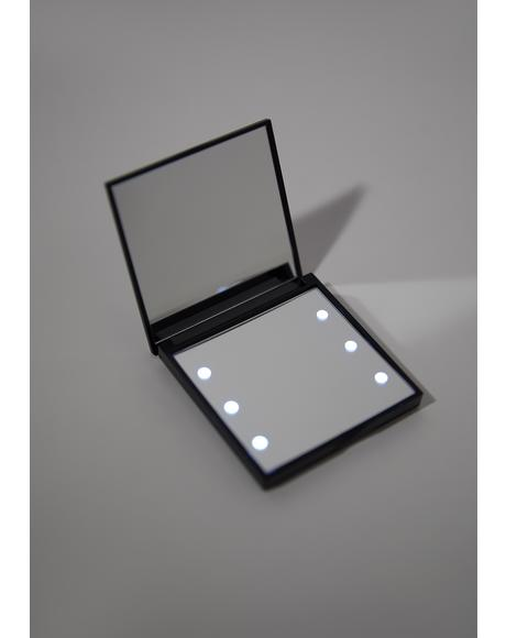 Square LED Compact Mirror