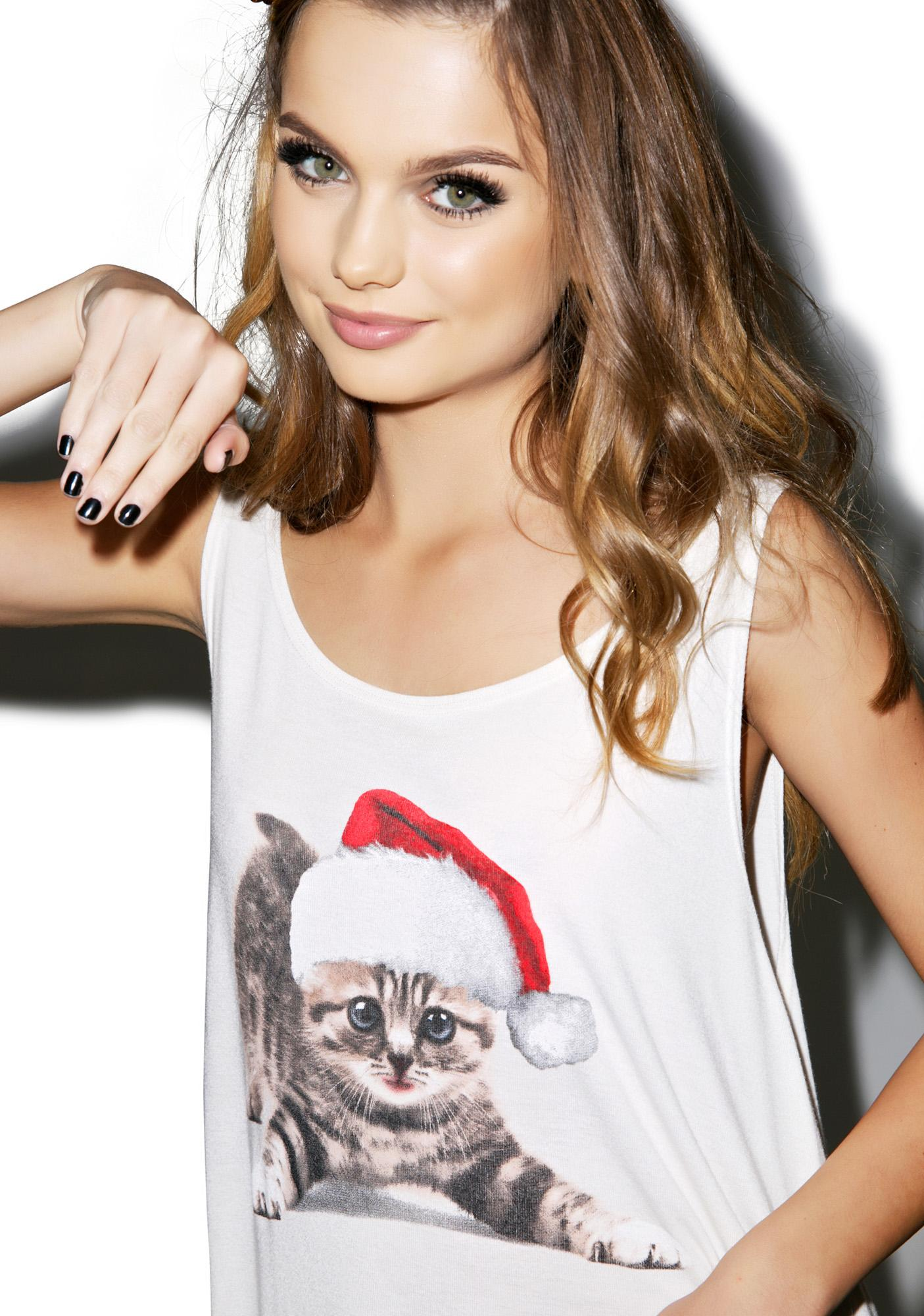 Wildfox Couture Meowy Christmas Shark Tank