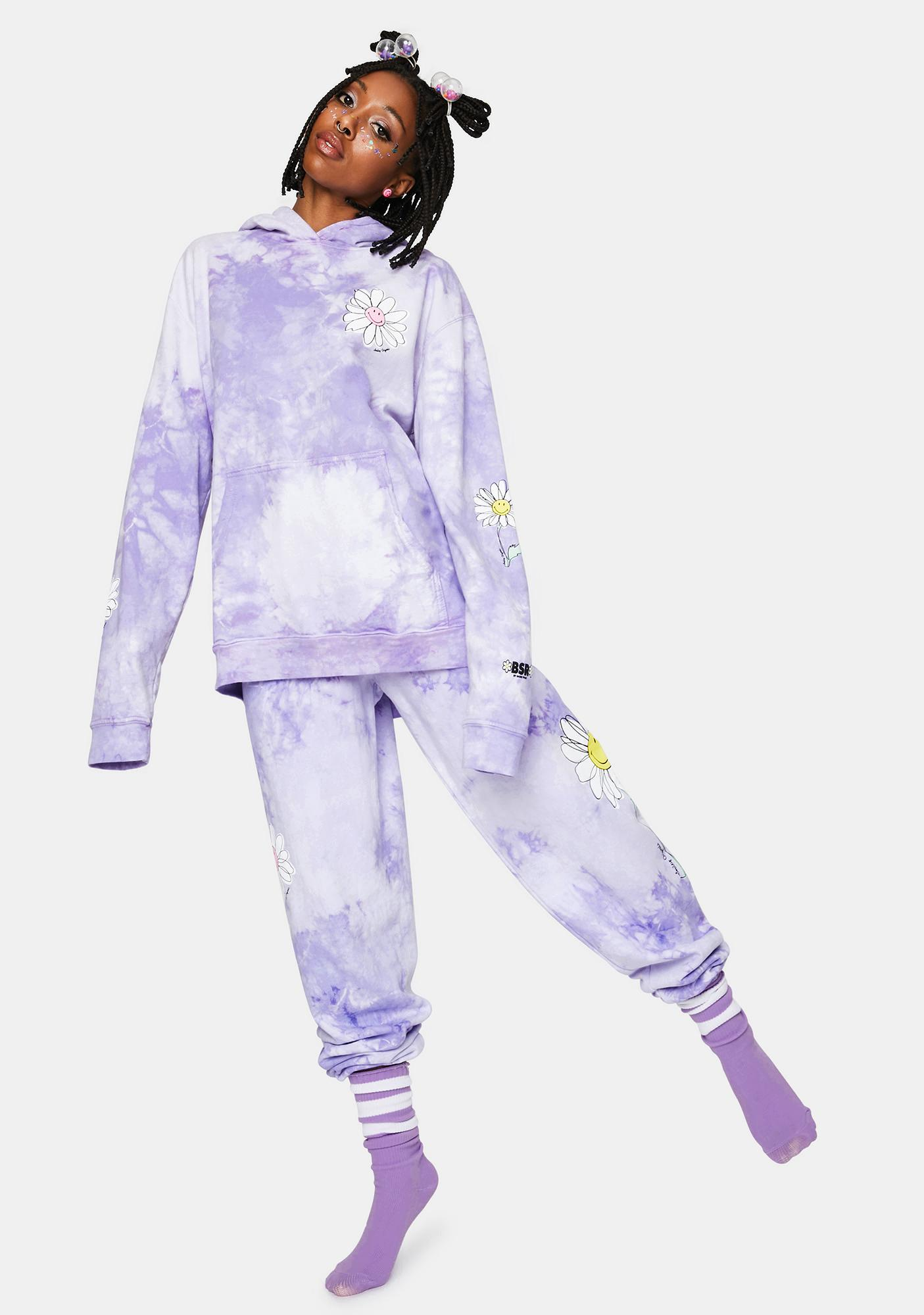 By Samii Ryan Lavender In Bloom Pigment Dyed Sweatpants