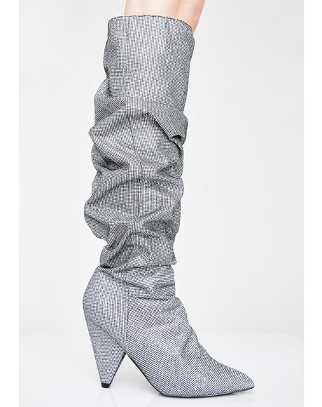 Pewter Stay Shinin' Scrunch Boots