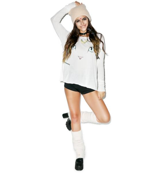 Wildfox Couture Cat & Moon Cozy Raglan