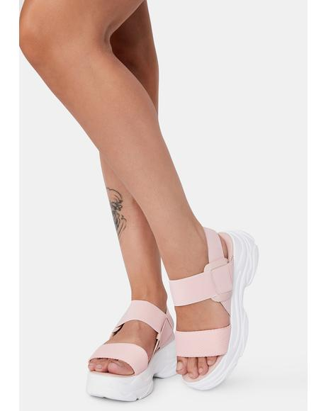Fiji Soft Wave Platform Sandals