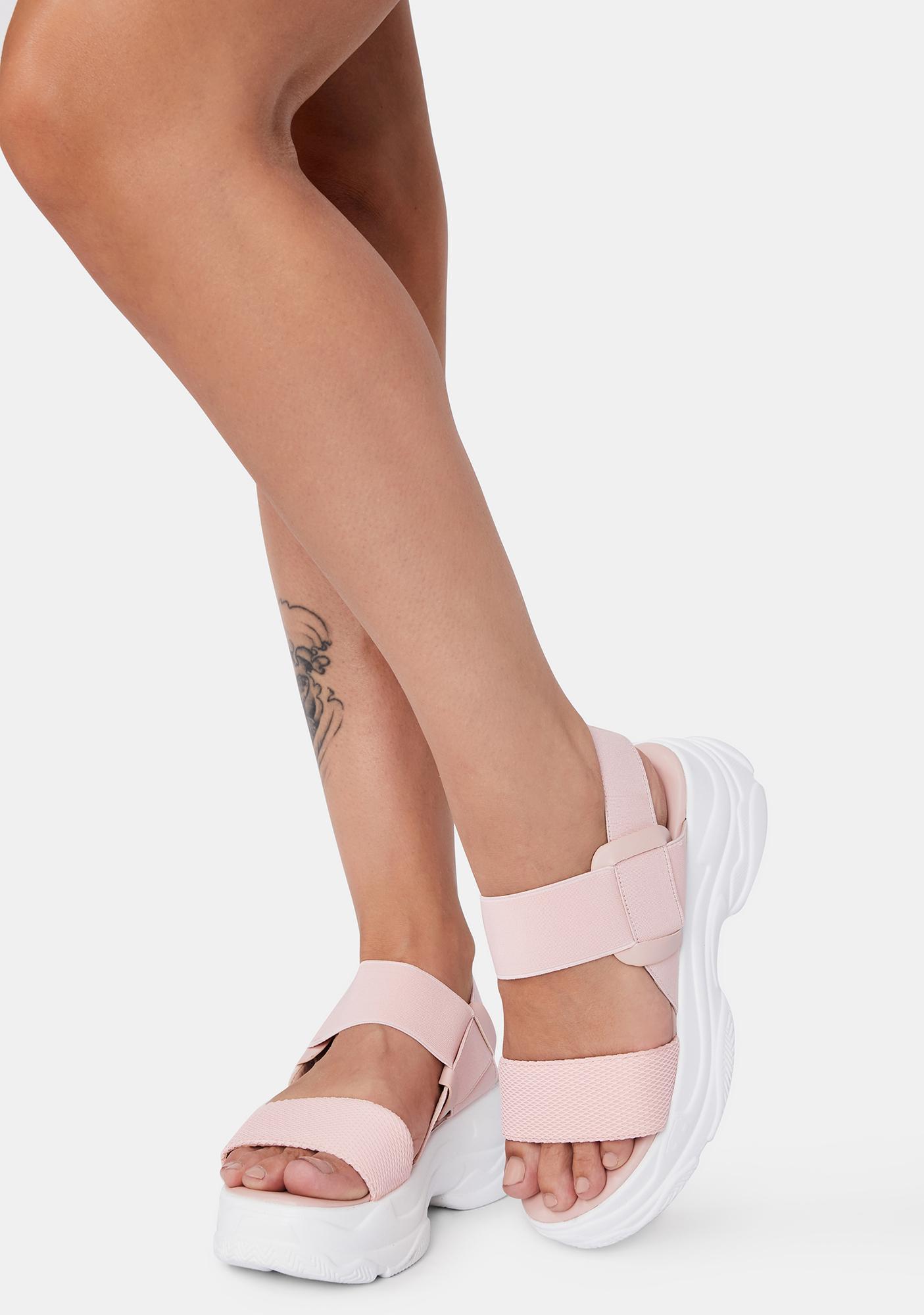 Fiji Soft Wave Platform Sandals