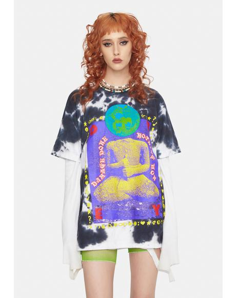 Damage Done Tie Dye Graphic Tee
