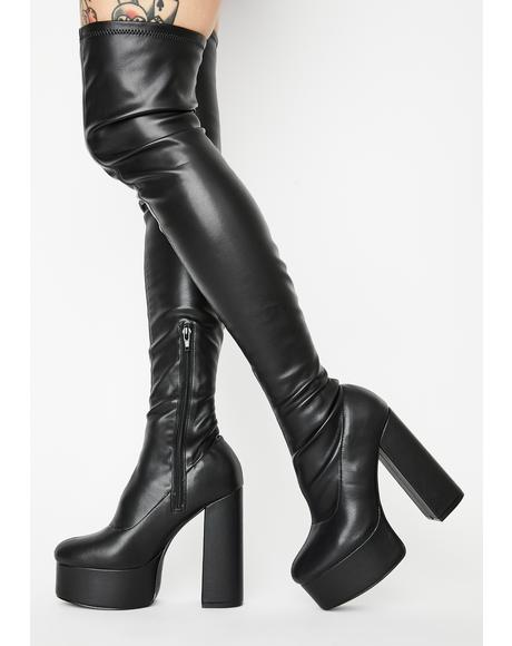Blackout Miss Behave Thigh High Boots