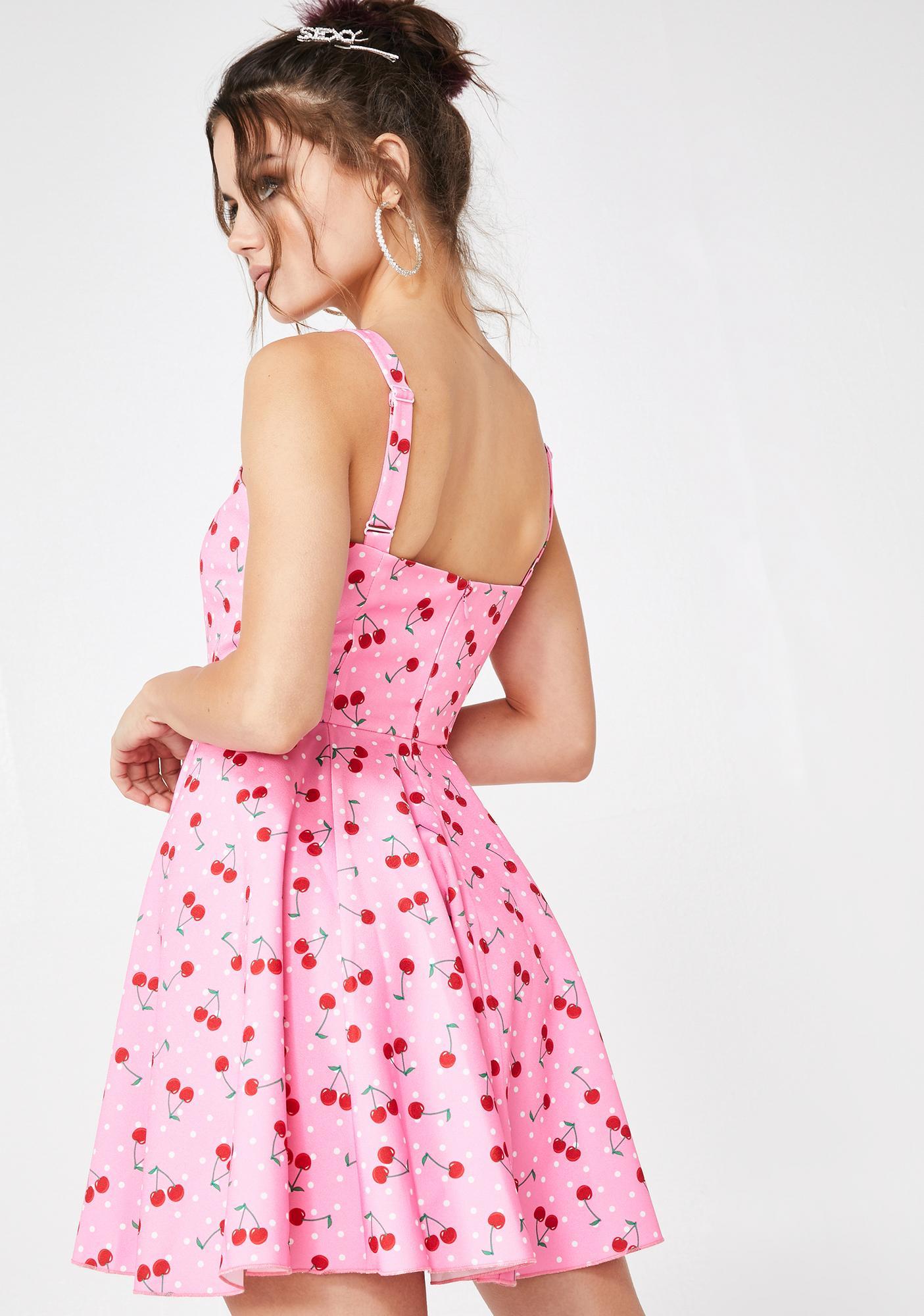 Sugar Thrillz Cherry Munroe Mini Dress