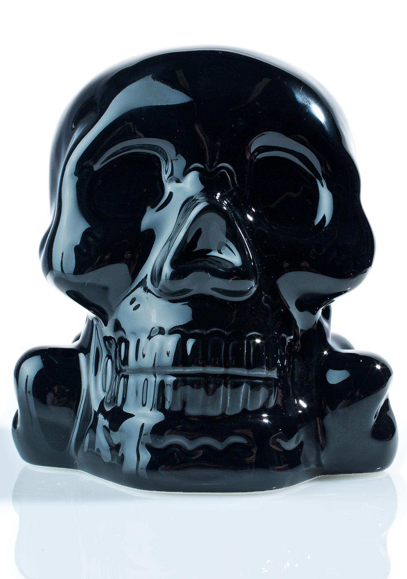 Sourpuss Clothing Ceramic Skull Bank