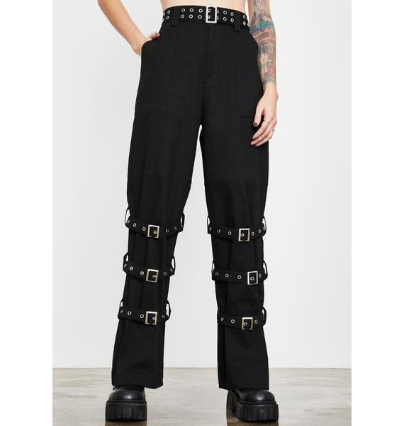 Current Mood Outside Threat Buckle Pants