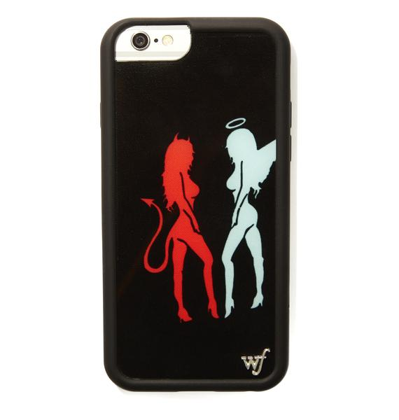 Wildflower Devil Angel iPhone Case