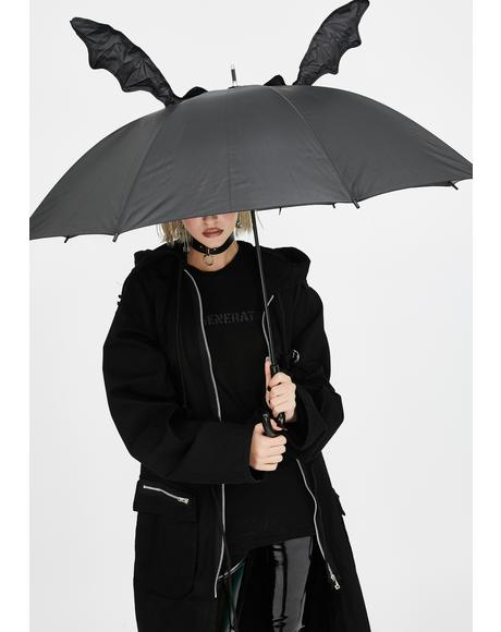 Bat Romance 3D Umbrella