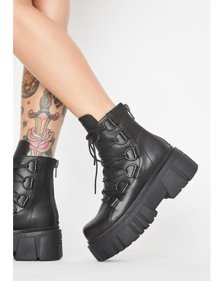 Dark Dominion Combat Boots