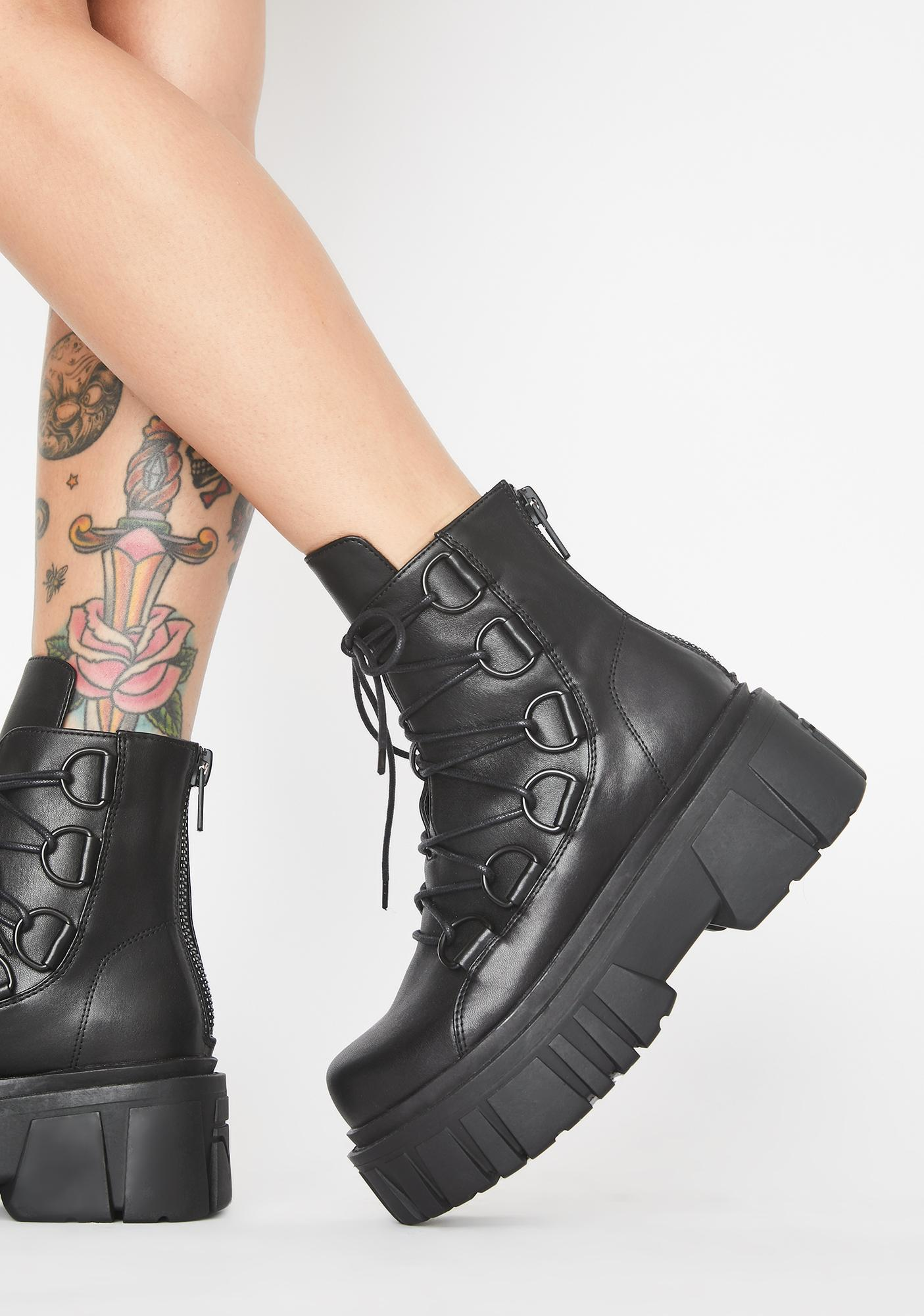 Current Mood Dark Dominion Combat Boots