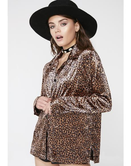 Velvet Jungle Button-Up Top