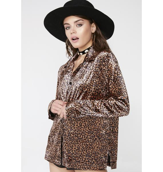 Velvet Jungle Button-Up Top