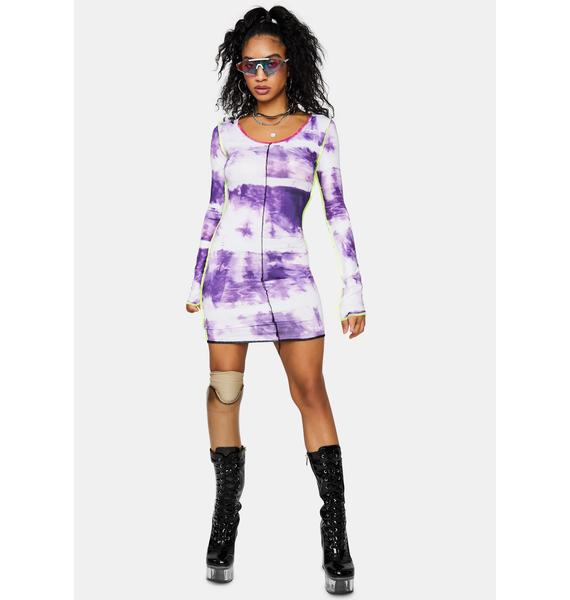 Living On The Edge Tie Dye Mini Dress
