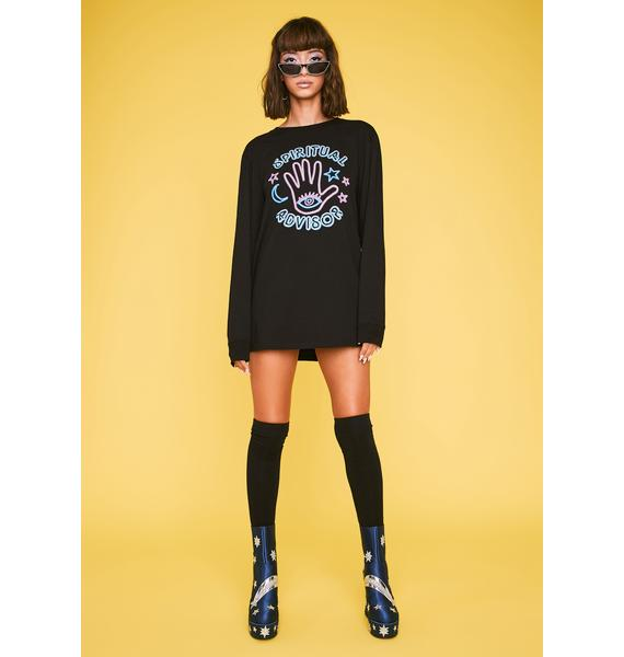 HOROSCOPEZ Advice Queen Long Sleeve Tee