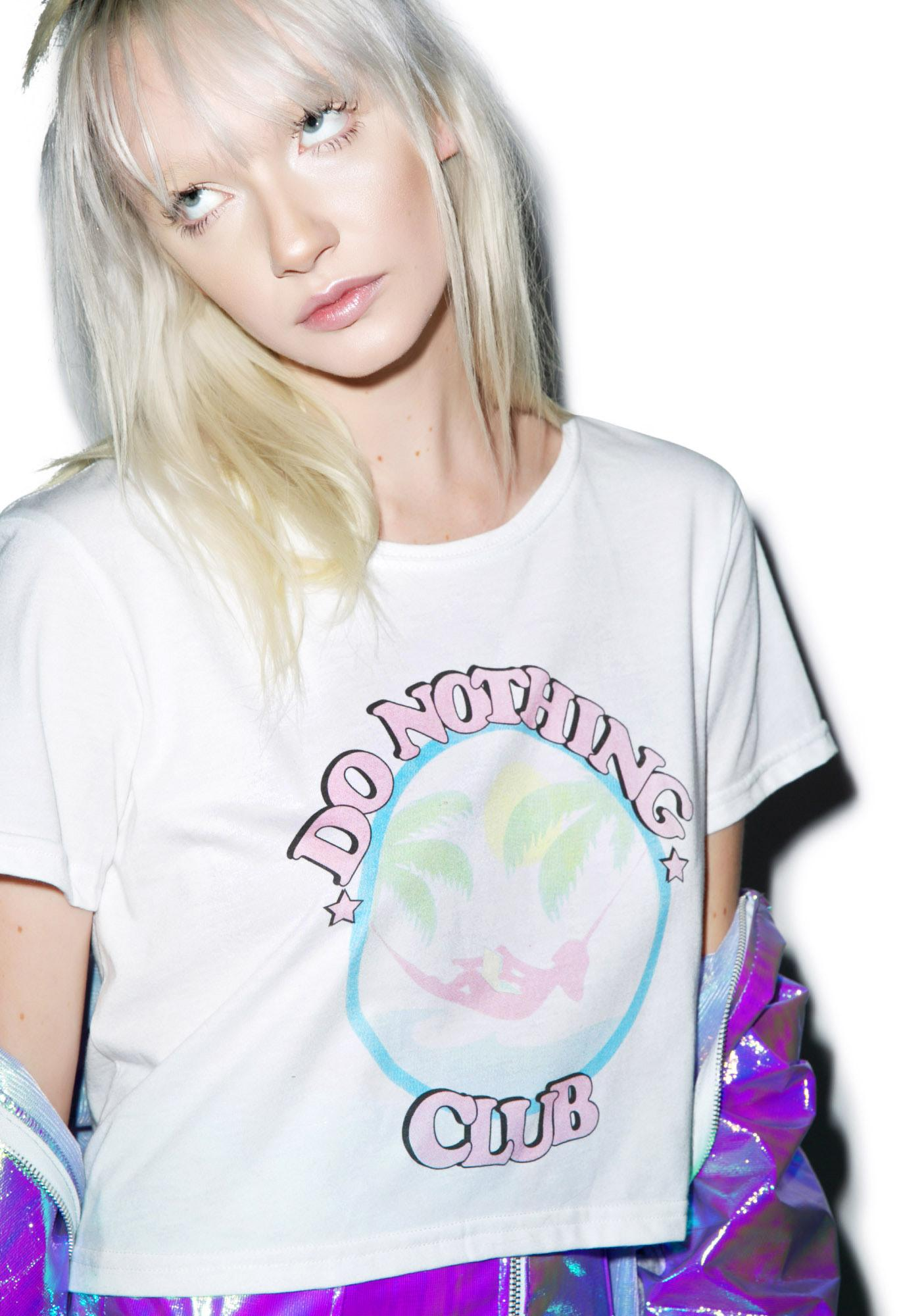 Local Heroes Do Nothing Club Cropped Tee