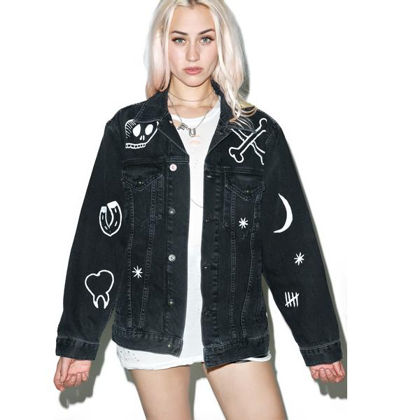 The Ragged Priest Bone Rattler Denim Jacket