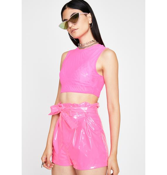 Candy Wrapper Vinyl Shorts