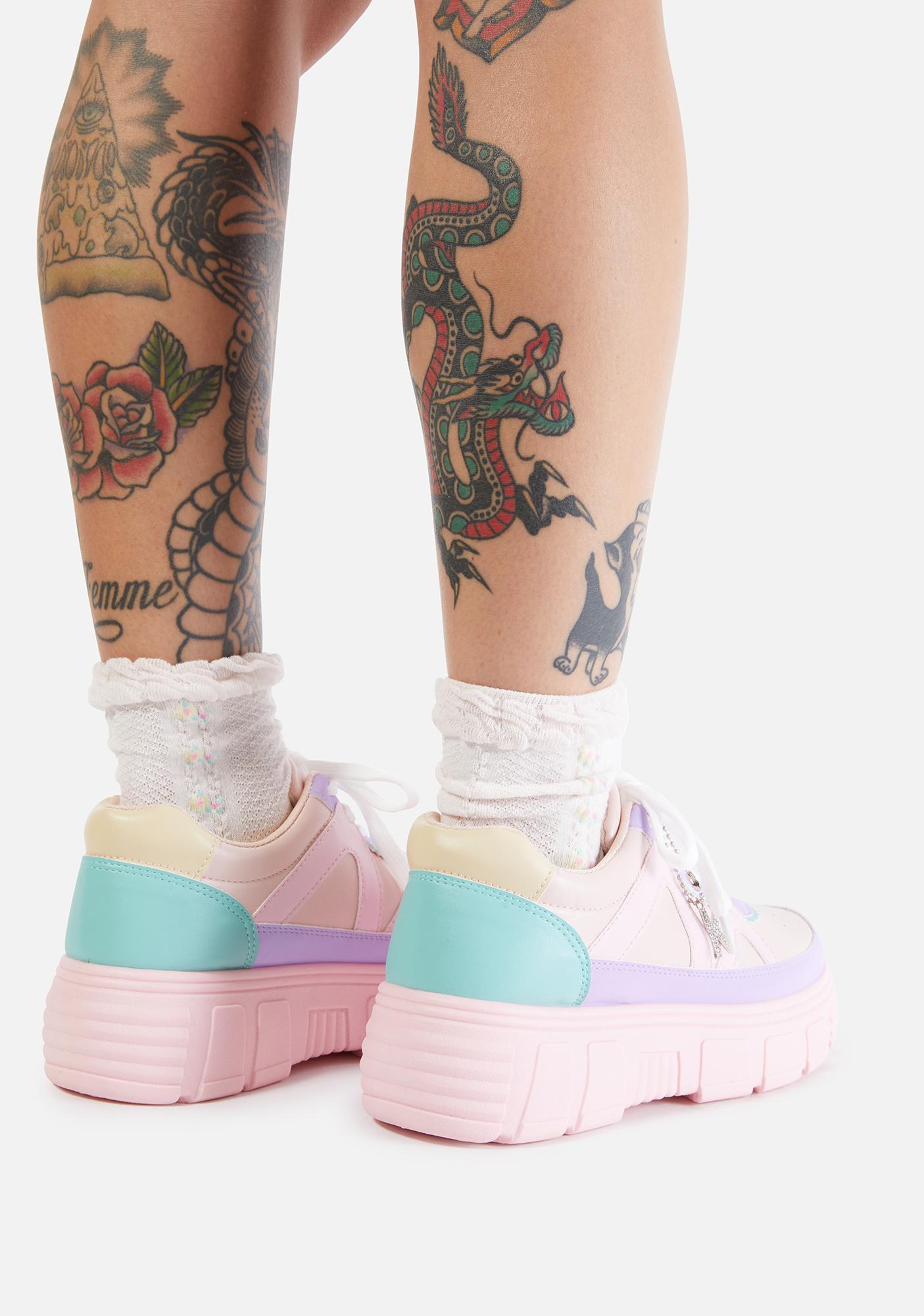 Koi Footwear Pink Aiya Platform Sneakers